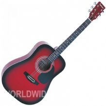 Falcon FG100R Dreadnought Style Acoustic Guitar Red Gloss finish - Brand New